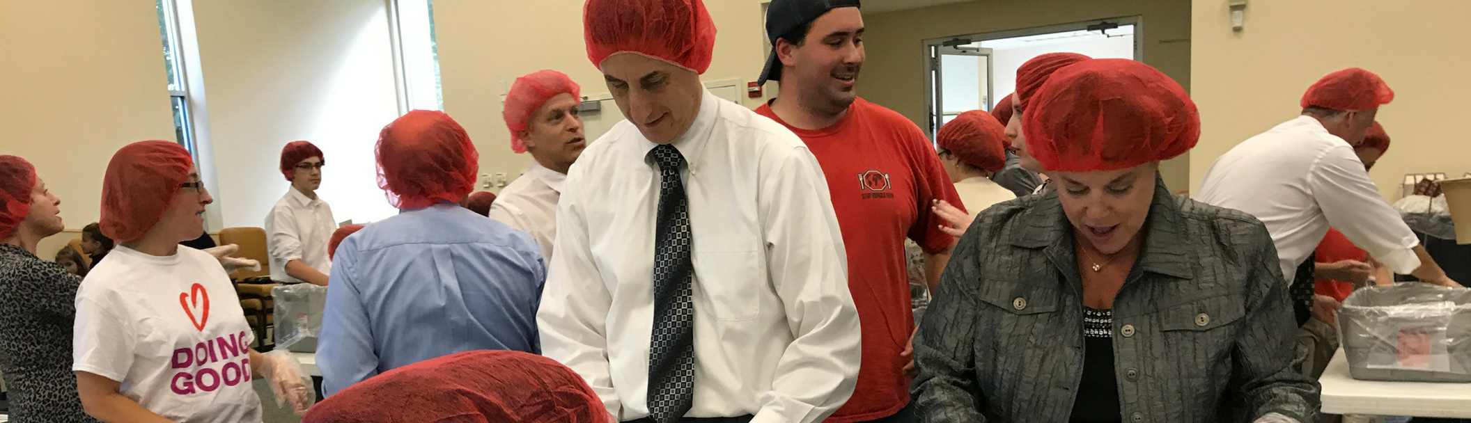 Packing Meals for Rise Against Hunger