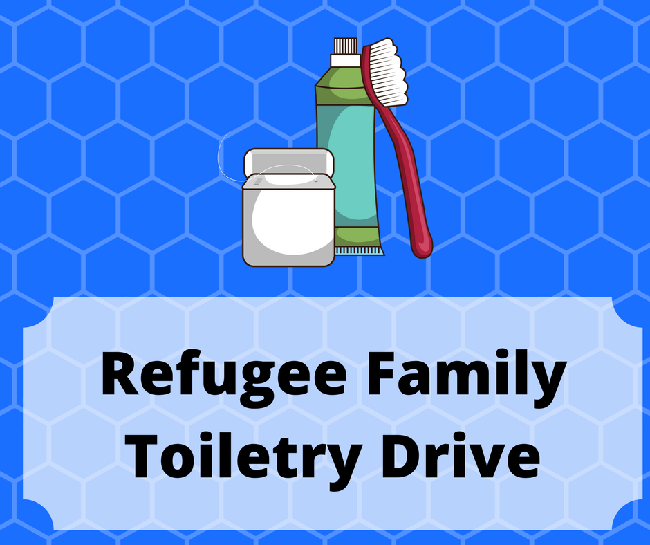 Refugee family toiletry drive