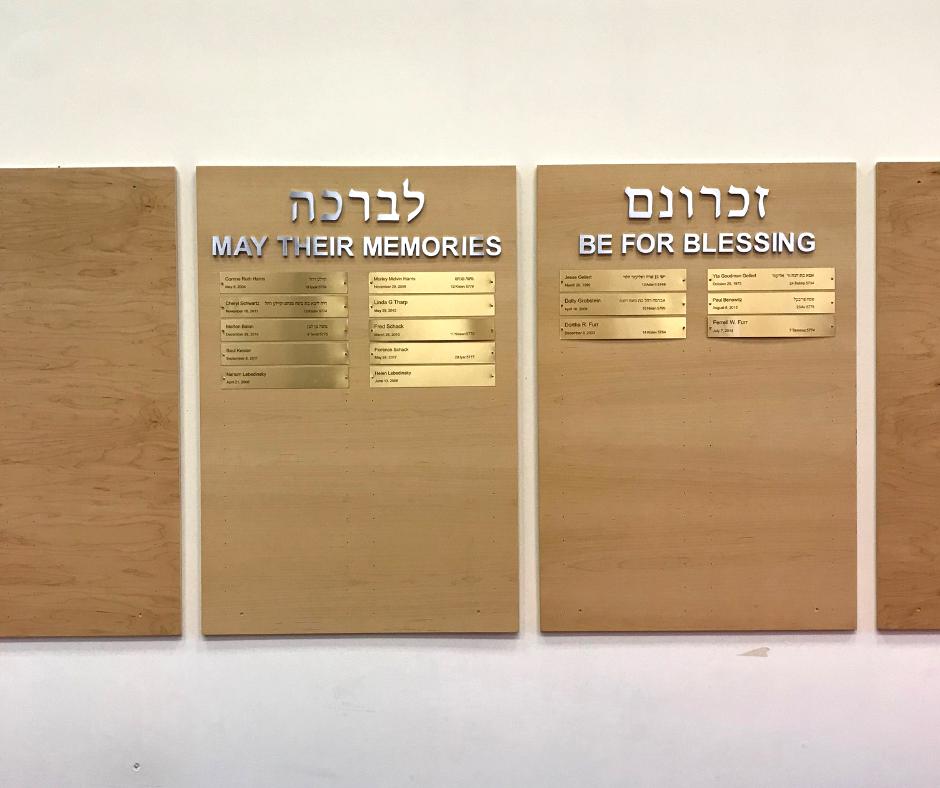 Yarhzeit Board